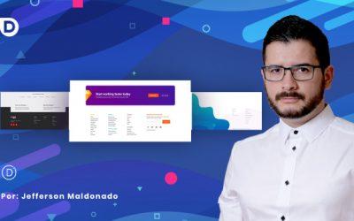 Crear un footer personalizado con el Theme Builder de Divi.