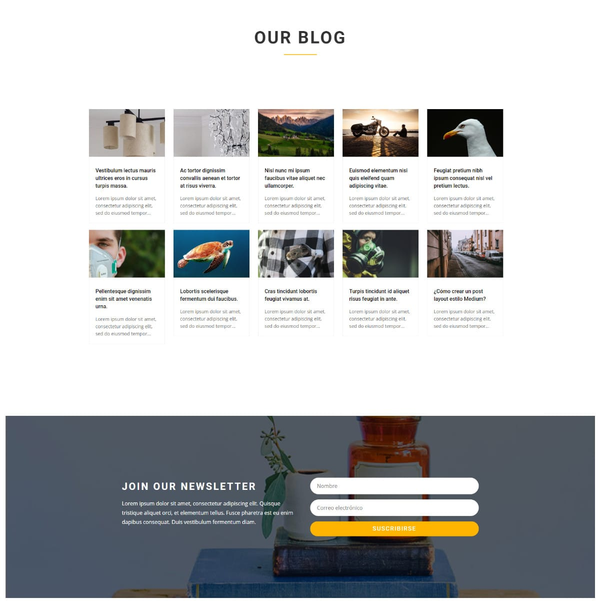 Cambiar el numero de columnas en el módulo de blog de Divi