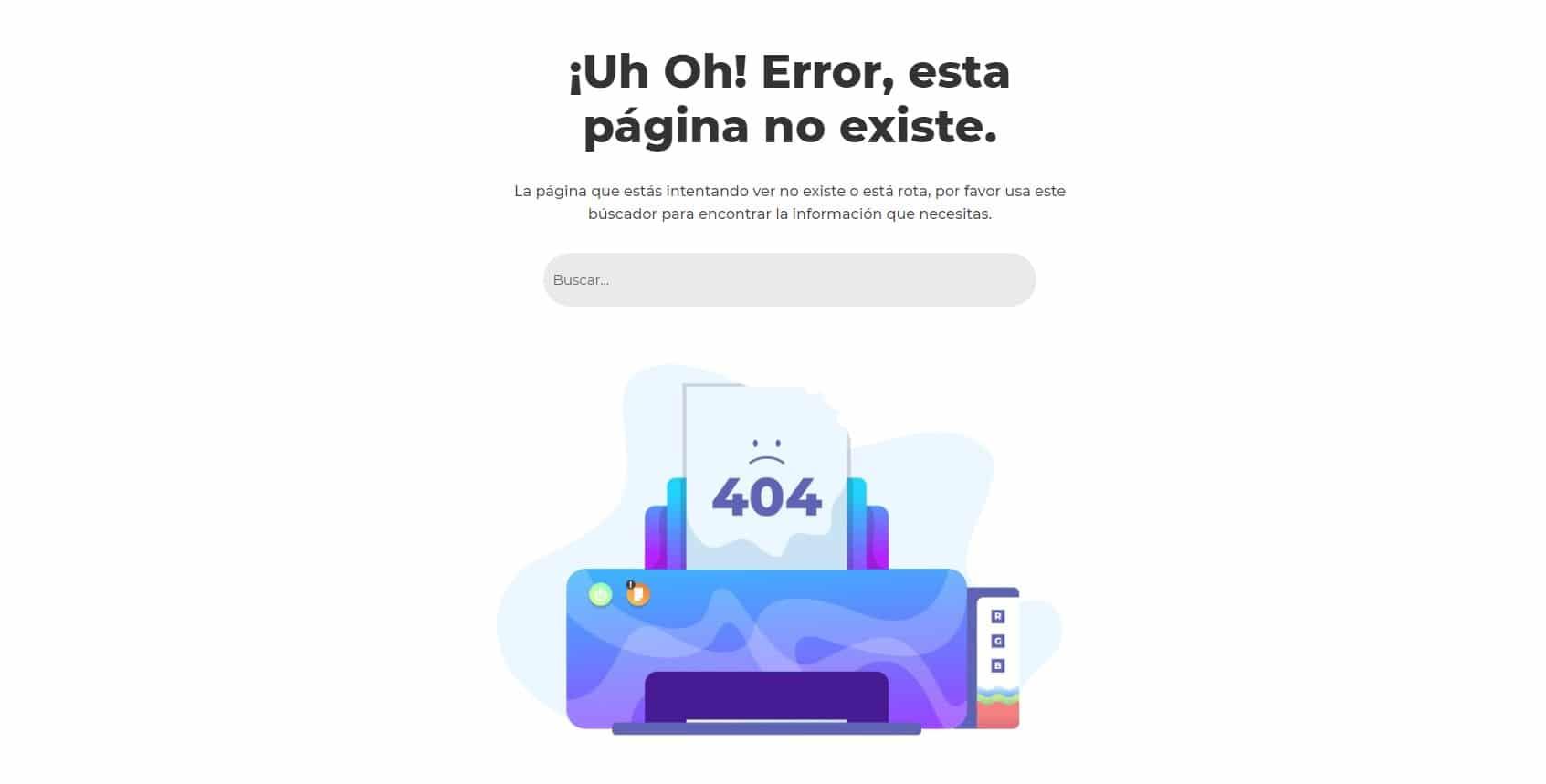 Crear página 404 personalizada con el Theme Builder de Divi ejemplo