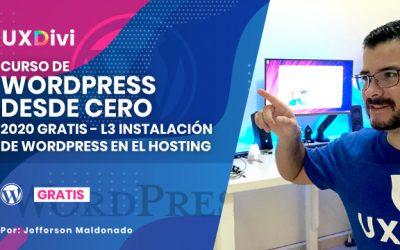 L3 Instalar un sitio web WordPress en un servidor de Hosting
