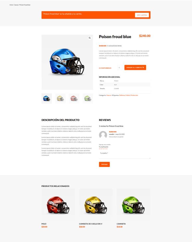 crear una página de producto con el theme builder de divi
