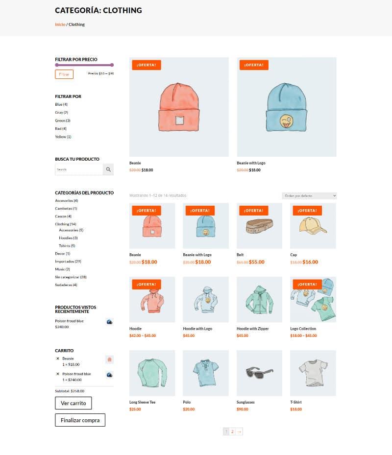 crear una página de categoría con el theme builder de divi