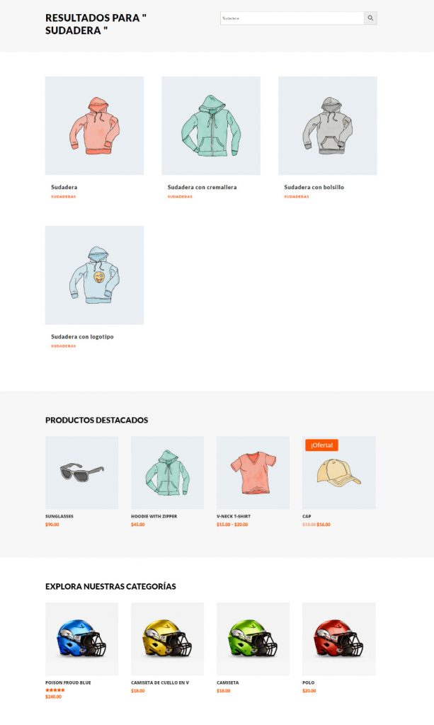 muestra Crear página de resultados de búsqueda de productos con el Theme Builder de Divi