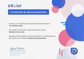 certificado cursos uxdivi