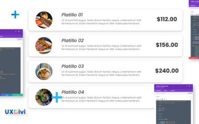 Crear menú y lista de precios con módulos de Divi y CSS