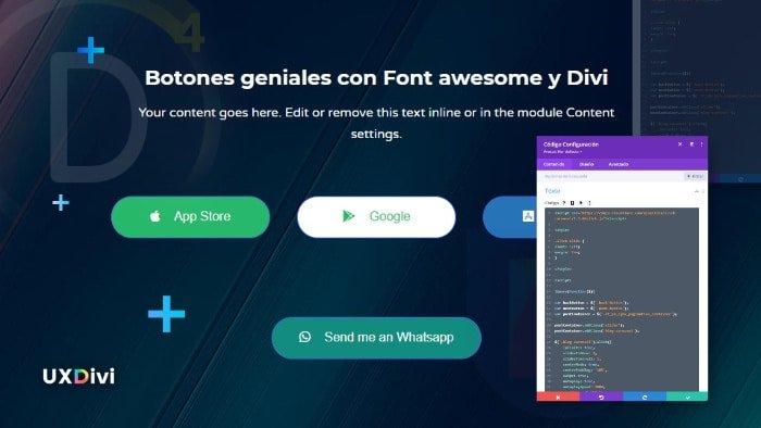 Cómo usar Font Awesome para crear botones 100% personalizados en Divi