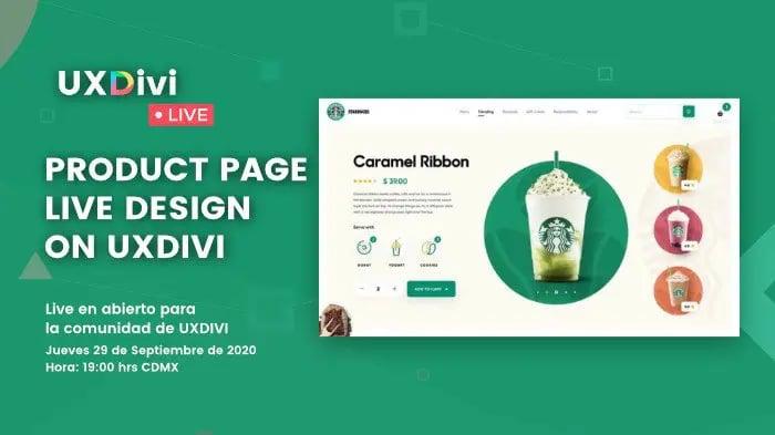 Diseño de producto inspirado en Starbucks con el Theme Builder de Divi #uxdivilivedesign