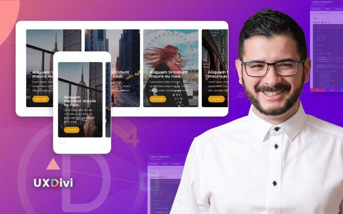 Como crear tarjetas de contenido con Swipe horizontal en Divi