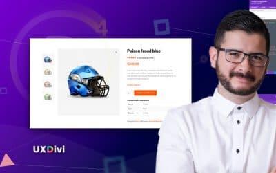 Cómo alinear verticalmente las imágenes de Woo de un producto en Divi