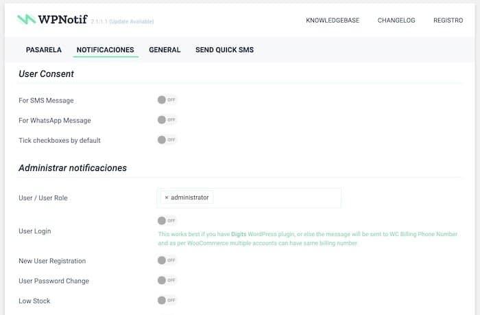 Enviar notificaciones manuales de Woocommerce por Whatsapp con WPNotif