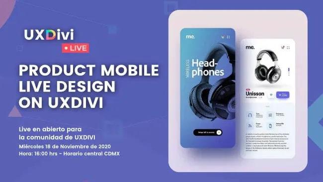 Diseño de página de producto en móvil con Divi – #UXDIVILivedesign