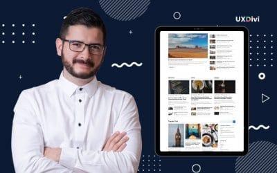 Crear blog estilo magazzine con Divi Blog Module de Divi Gear