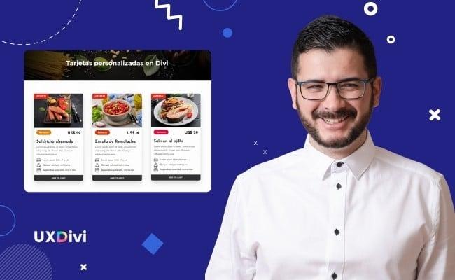 Crear tarjetas personalizadas de menús o recetas con Divi