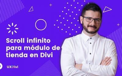 Infinite Scroll o Scroll infinito para módulo de tienda en Divi