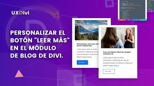 Tutorial Divi: Personalizar el botón «leer más» en el módulo de blog de Divi.