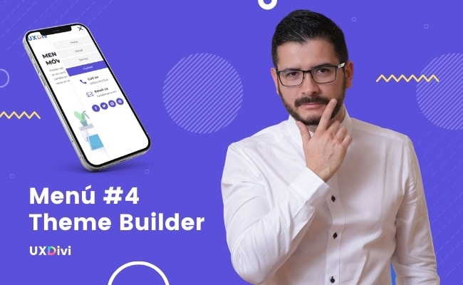Menú #4 Theme Builder de Divi – Barra lateral Móvil