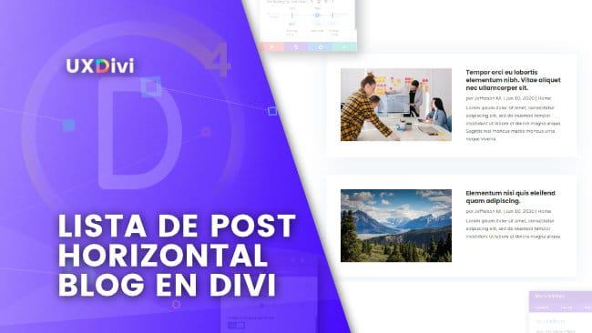 Blog en modo lista en Divi: Convierte el layout en una lista de post horizontal