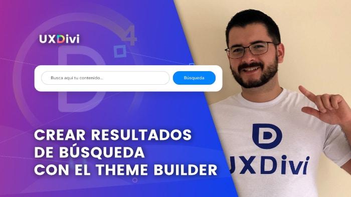 Crear resultados de búsqueda con Theme Builder en Divi