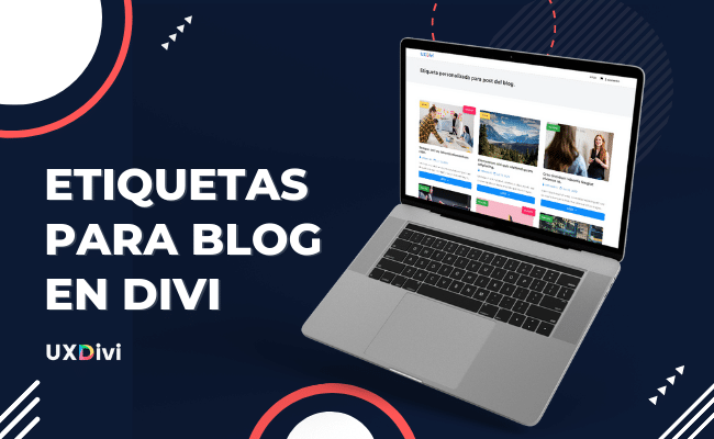 Etiqueta informativa para módulo de blog en Divi