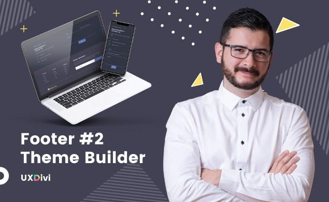 Footer personalizado #2 con el Theme Builder de Divi