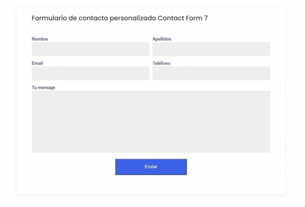 Despues - Cómo personalizar el formulario de contacto de Contact Form 7