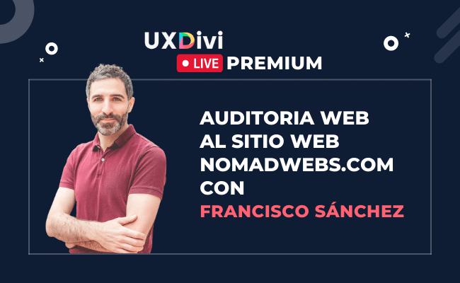 Webinar #14: Auditoria web al sitio nomadwebs.com de nuestro alumno Francisco Sánchez