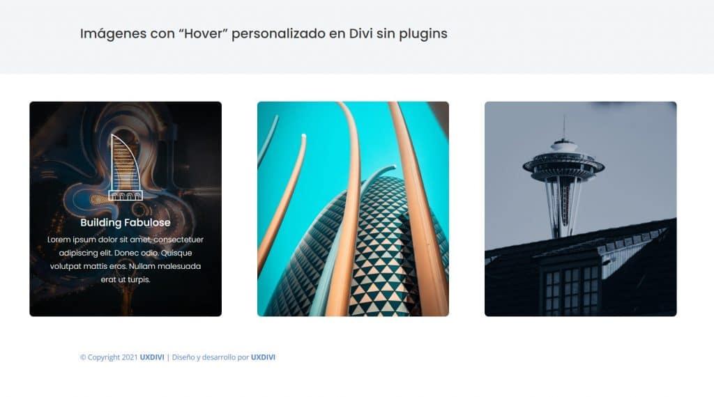 """Crear imágenes o tarjetas con efecto """"Hover"""" en Divi sin plugins"""