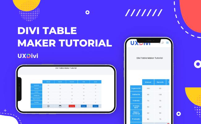 Cómo crear tablas responsive para Divi con Divi Table Maker