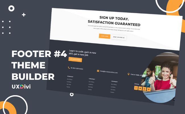 Footer personalizado #4 con el Theme Builder de Divi