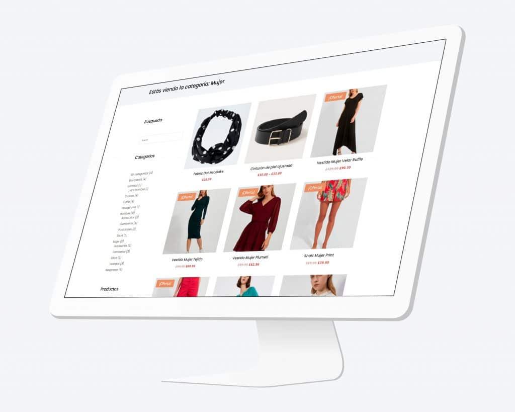 Crear un layout de categorías de productos en tienda con el Theme Builder de Divi DEMO