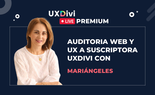 Webinar #15: Auditoria web y UX con suscriptora Mariángeles