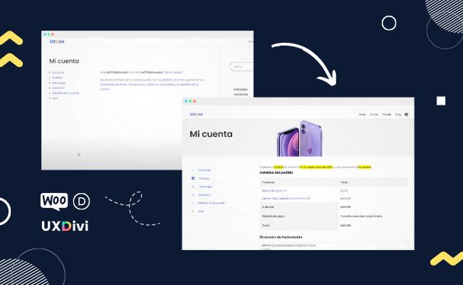 Cómo mejorar el diseño de la página de «mi cuenta» en Divi