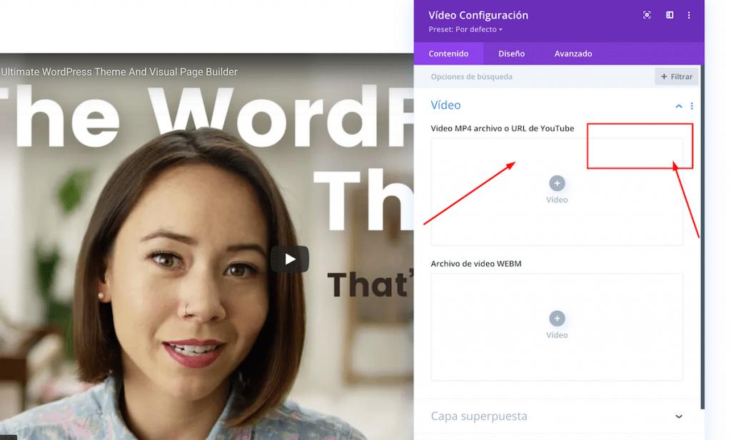 Como hacer el módulo de video dinámico en Divi
